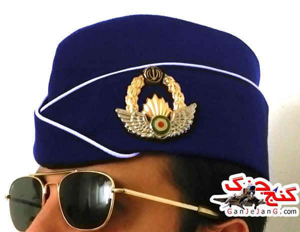 کلاه خلبانی دانشجویی زمان قدیم+آرم نیروی هوایی