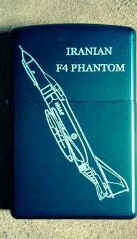 زیپو طرح اف-4 ایرانی (فانتوم) پشت و رو