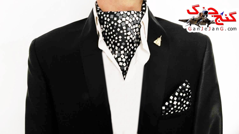 دستمال گردن خلبانی شکاری شماره یک + دستمال جیب کت