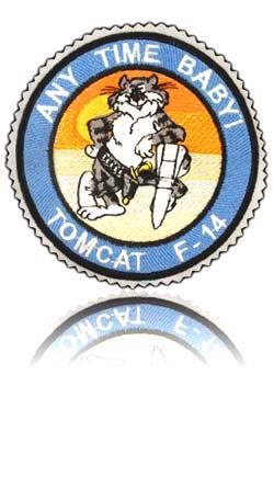 آرم سینه تمام دوخت خلبان لیدر چهارم تامکت اف-14
