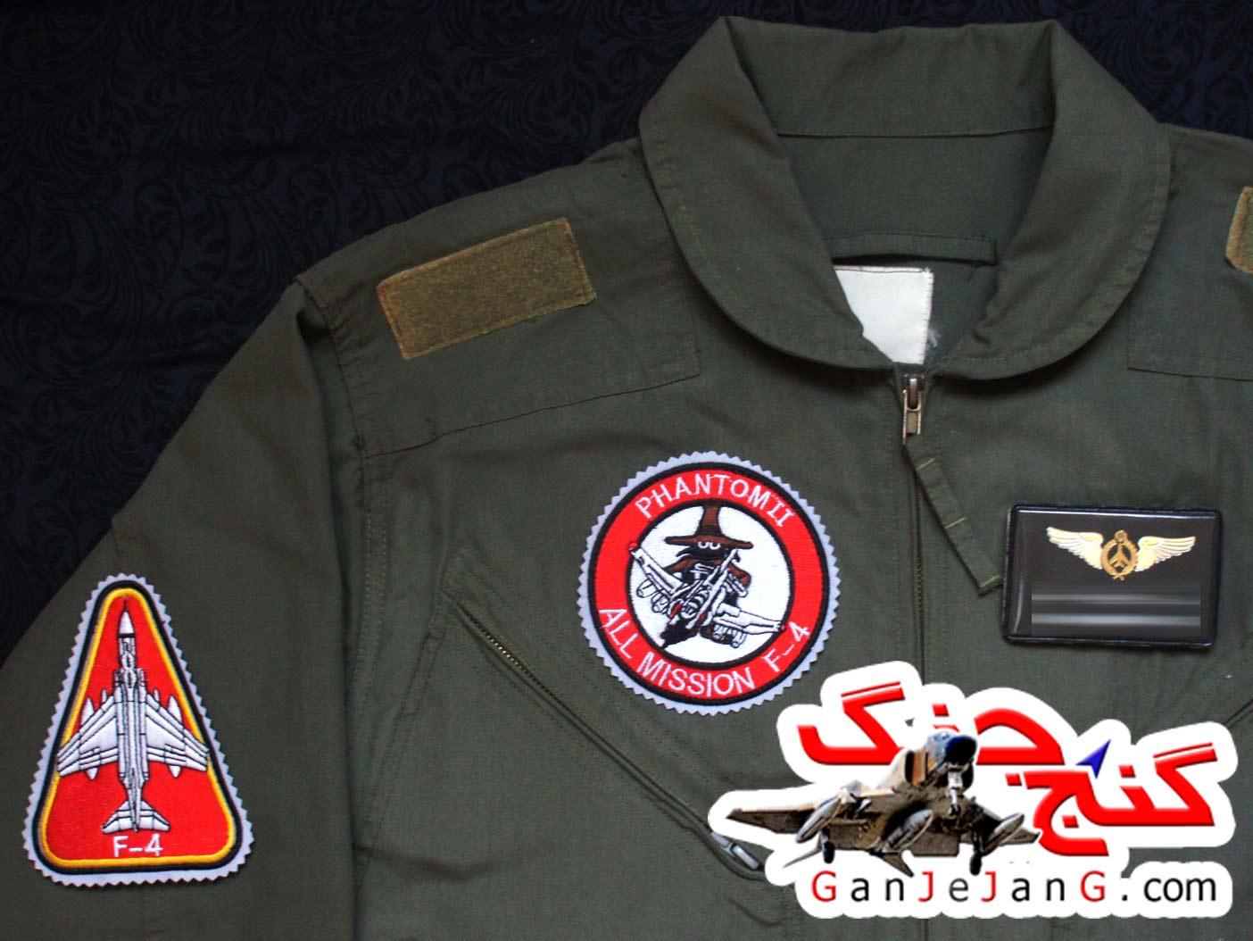 آرم سینه تمام دوخت خلبان لیدر سوم اف-4 فانتوم