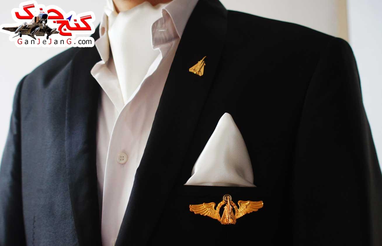 دستمال گردن خلبانی شکاری شماره ده + دستمال جیب کت