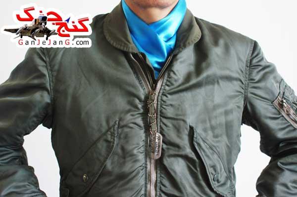 دستمال گردن خلبانی شکاری شماره پنج + دستمال جیب کت