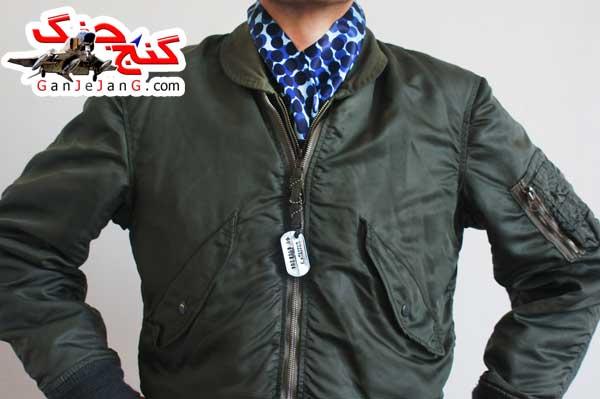 دستمال گردن خلبانی شکاری شماره شش+دستمال جیب کت