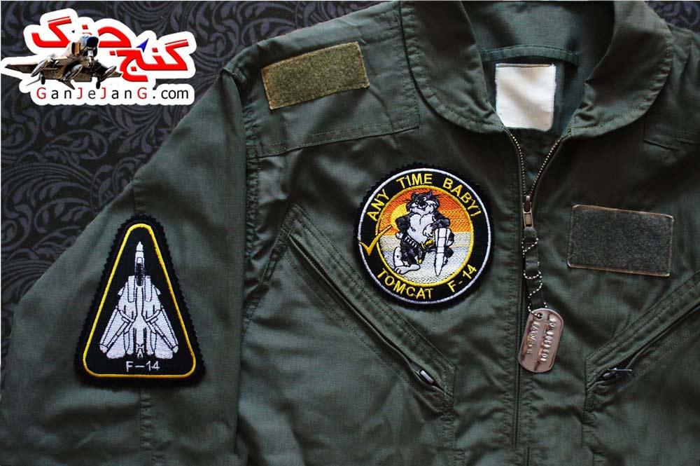 آرم سینه تمام دوخت استاد خلبان لیدر یک اف-14 تامکت