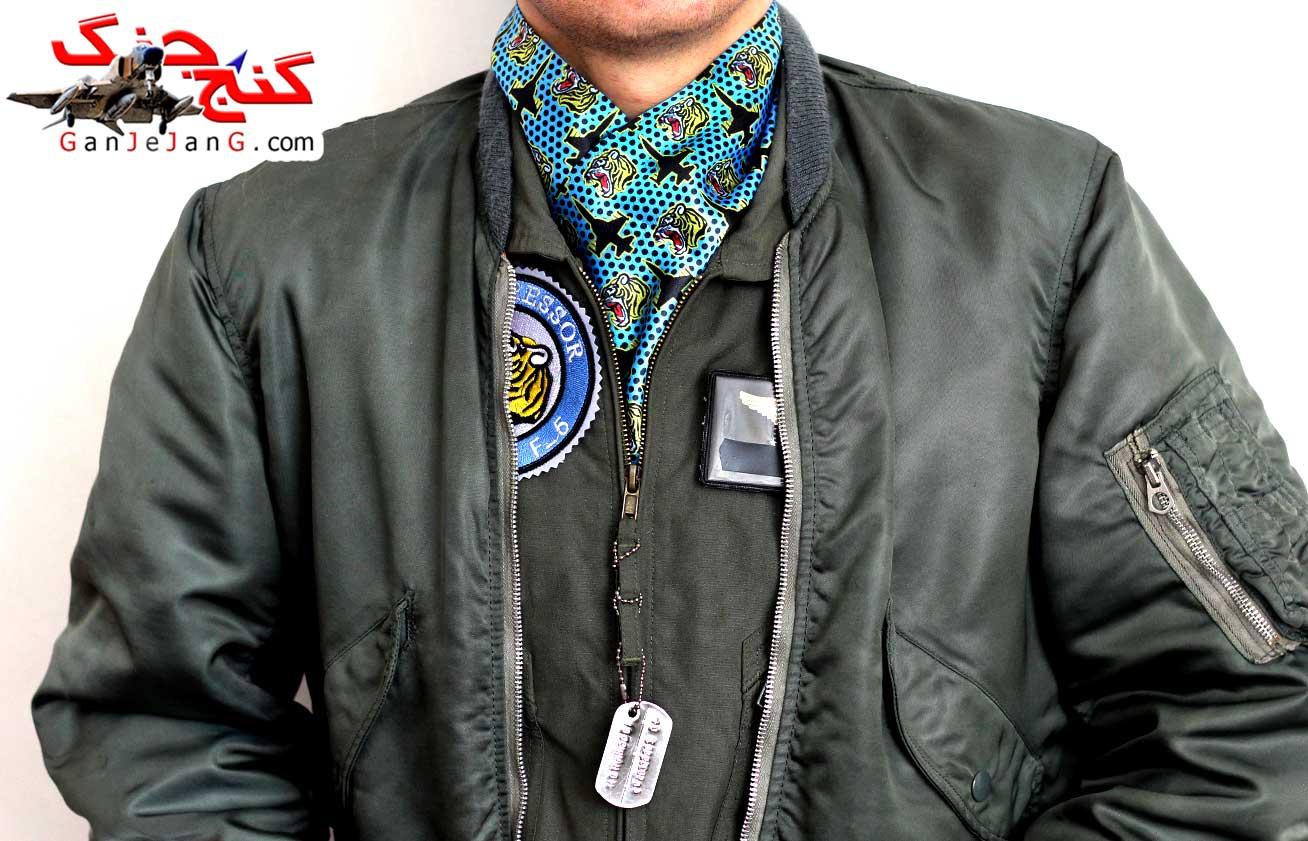 دستمال گردن خلبانی لیدر چهار F-5 تایگر
