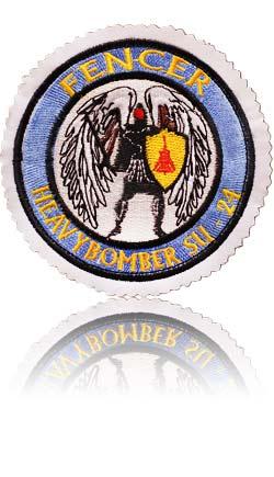 آرم سینه تمام دوخت خلبان لیدر چهارم سوخو-24 فنسر