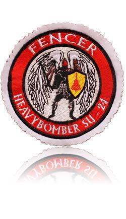 آرم سینه تمام دوخت خلبان لیدر سوم سوخو-24 فنسر