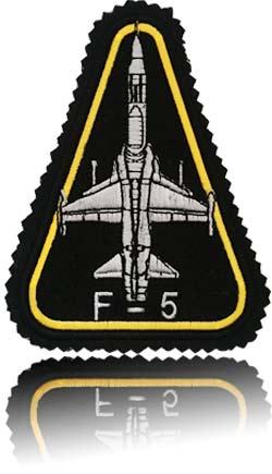 آرم بازو تمام دوخت استاد خلبان لیدر یک اف-5 تایگر